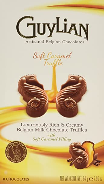 Guylian Belgium Chocolates Milk Chocolate Seahorse Truffle, Soft Caramel Filling, 8 Counts, 2.96