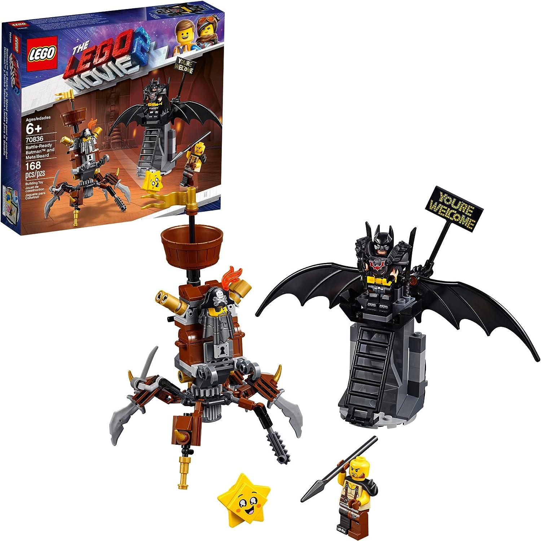 LEGO THE LEGO MOVIE 2 Battle Ready Batman and MetalBeard 70836 Building Kit, Superhero and Pirate Mech Toy (168 Pieces)