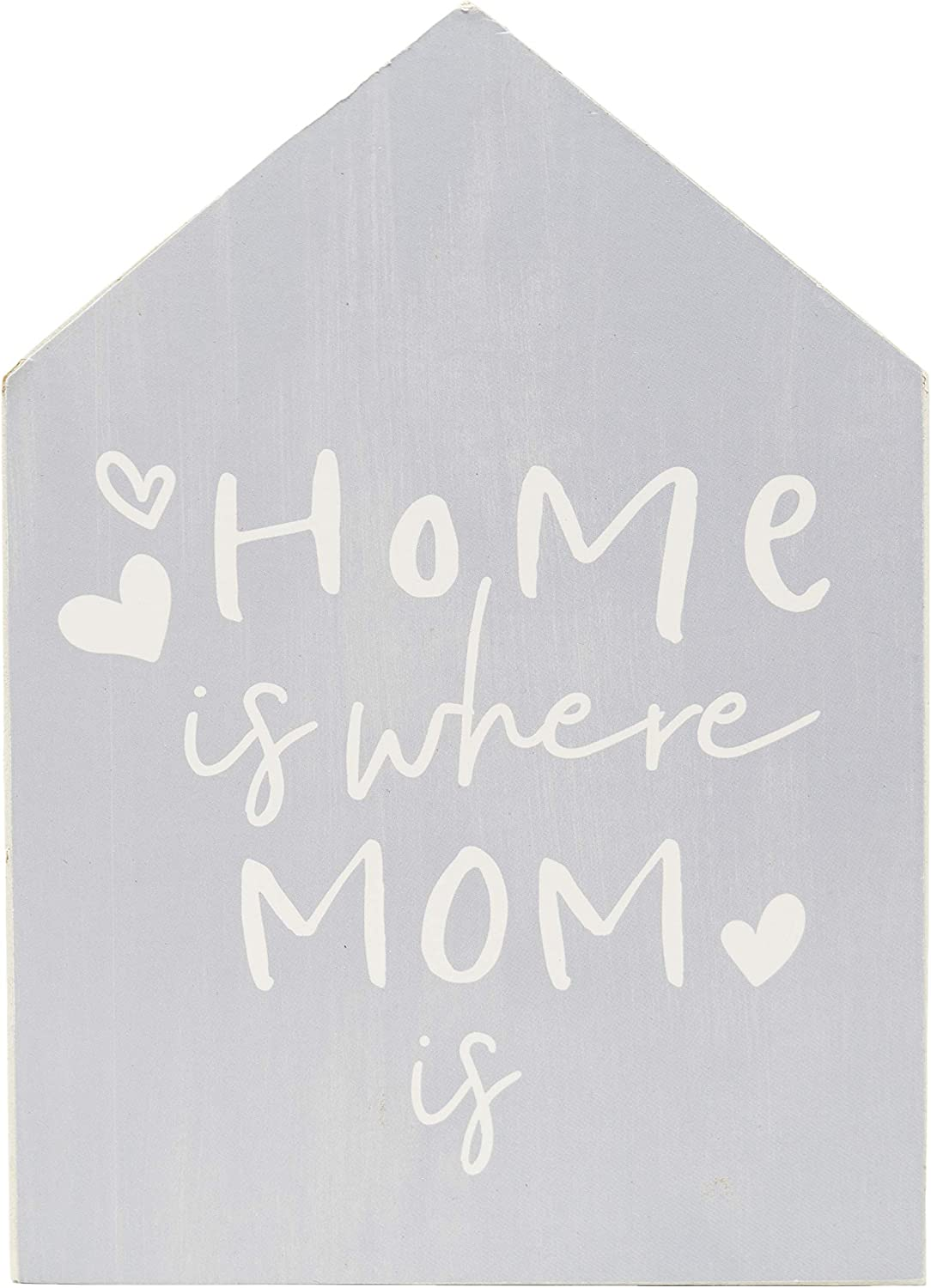 ReLIVE Decorative Expressions 7x5 Wooden Painted House Sign Home is Where Mom is