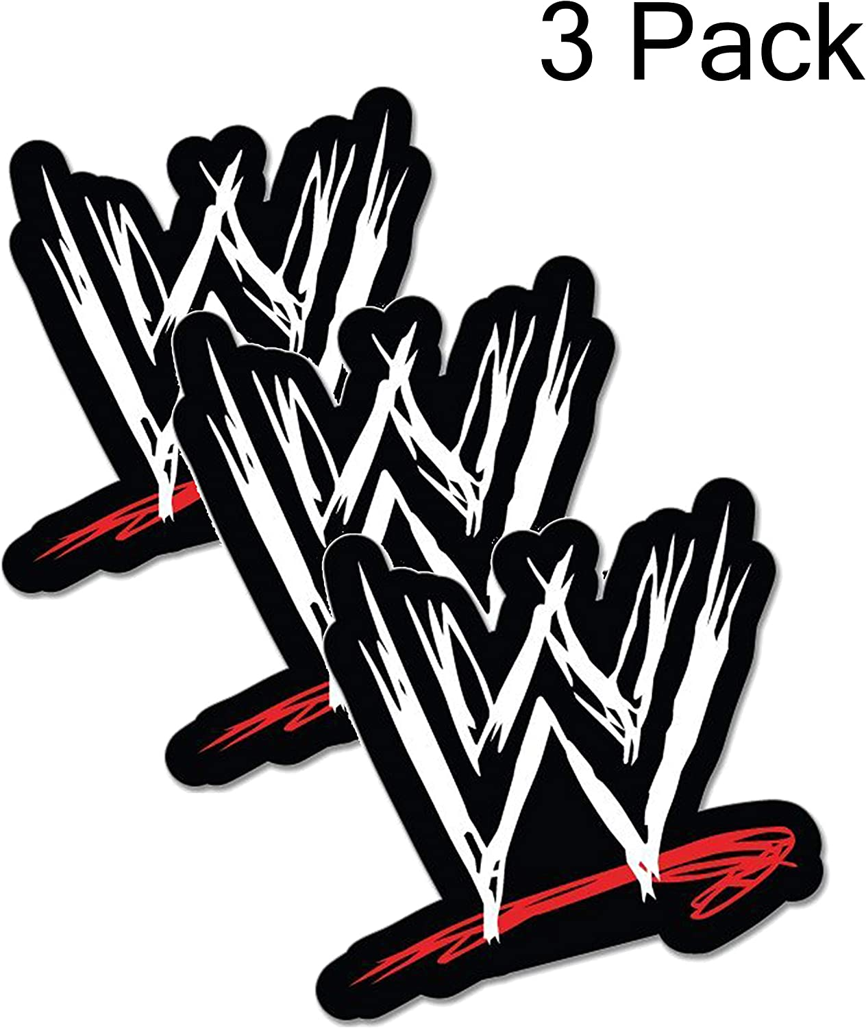 GTOTd Stickers for World Wrestling Entertainment. 4x4'' Sticker Decal (3 Pcs).Gifts World Wrestling Entertainment Toys Merchandise Party Supplies for Fans.