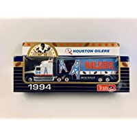 $24 » 1994 MATCHBOX NFL Team Collectible 1:87 Scale Die Cast Replica Ford Aeromax Tractor Trailer - HOUSTON OILERS