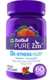 ZzzQuil PURE Zzzs De-Stress & Sleep Melatonin Sleep Aid Gummies with Ashwagandha, Chamomile, Lavender, & Valerian Root…