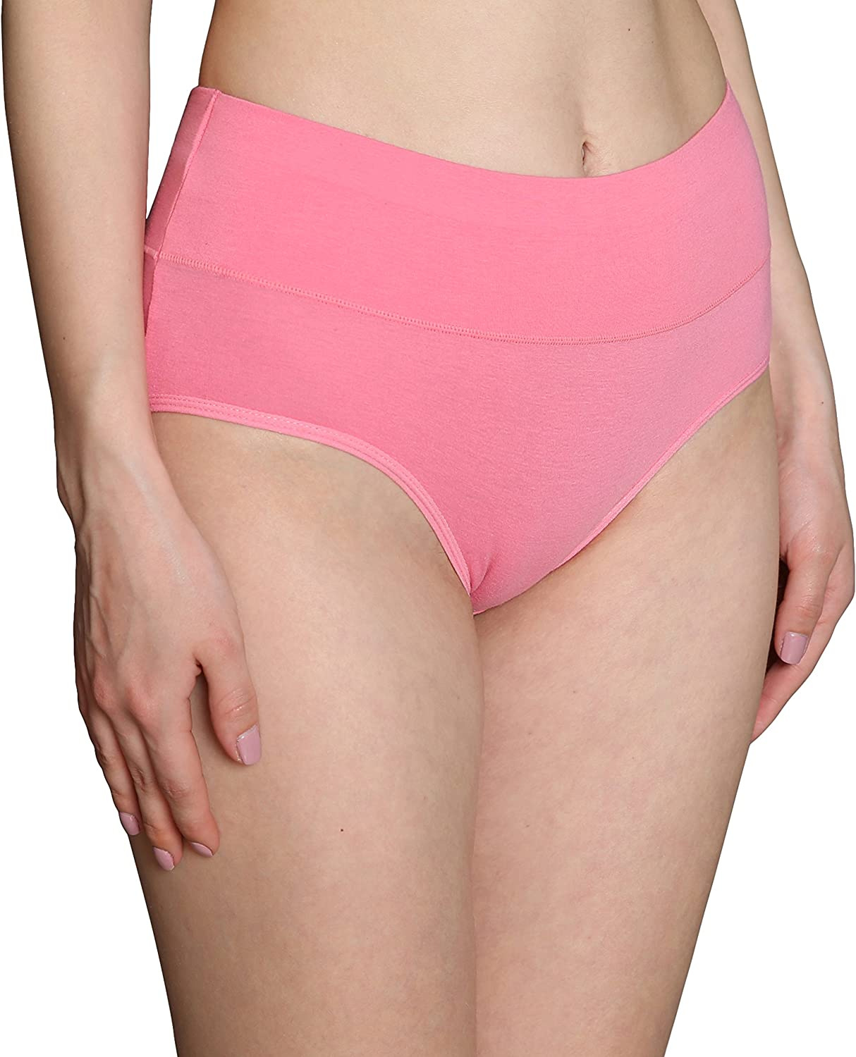 INNERSY Womens High Waisted Underwear Cotton Panties Regular /& Plus Size Multipack