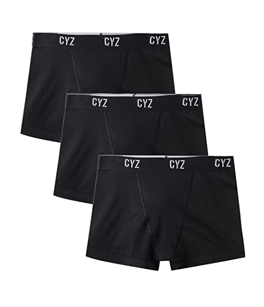 f32f4773dab5 CYZ Men's Cotton Stretch Trunk Cut Boxer Brief Pack of 3 at Amazon Men's  Clothing store: