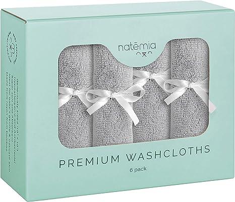 Natemia rayón de bambú toallitas de bebé (6-pack) | Toallas extra ...
