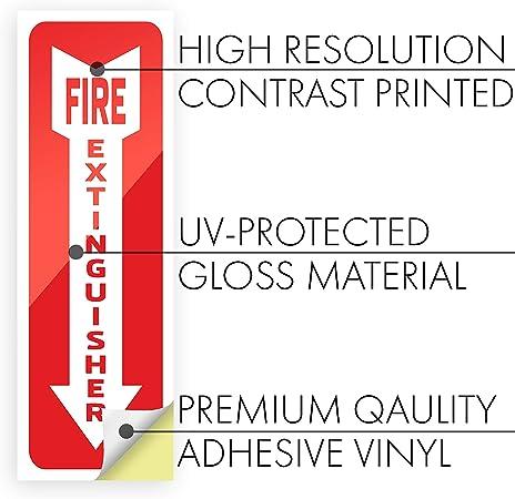 Amazon.com: Pegatinas para extintor de incendios – 6 ...