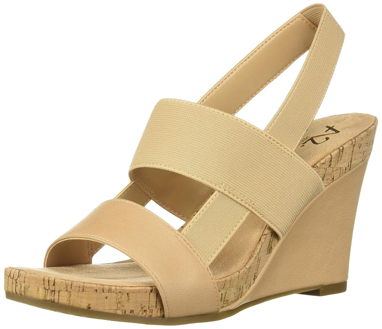 Lt Tan Aerosoles Womens Bone Plush Wedge Sandal