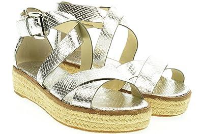 7e4fb7bb0d28 Michael Michael Kors Women s Darby Leather Sandals (5 B (M) US