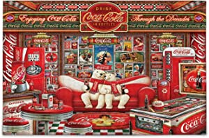 simono Puzzles for Adults Kids 500 Pieces - Coke-Cola Decades Collector Polar Bears, Challenging Large Jigsaw Puzzles DIY Gift Wall Hanging for Home Decor