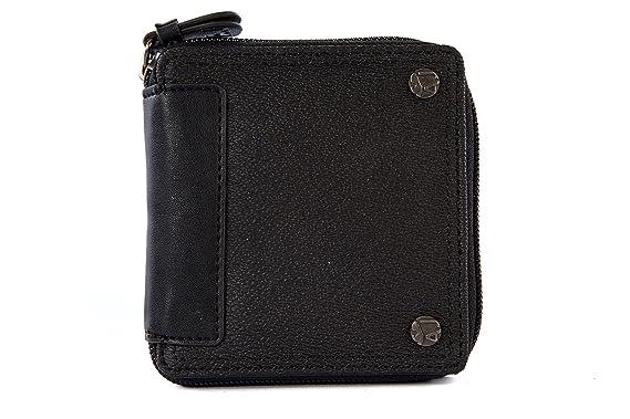 Armani Jeans portefeuille porte-monnaie homme en cuir noir  Amazon ... b09e3331702