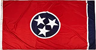 product image for Annin Flagmakers Model 145180 Tennessee Flag Nylon SolarGuard NYL-Glo, 5x8 ft, 100% Made in USA to Official State Design Specifications