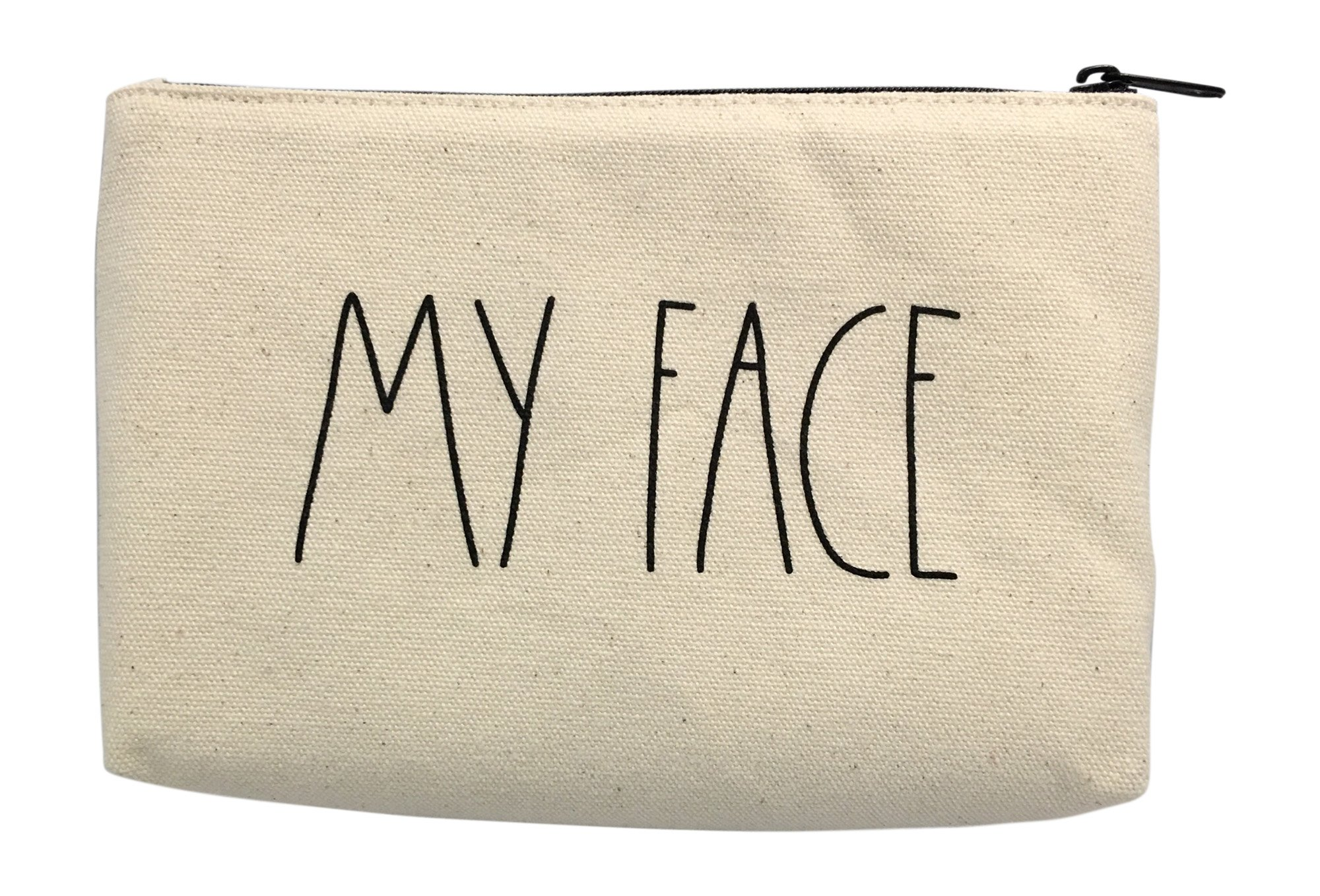 Rae Dunn My Face Cotton Cosmetic Bag