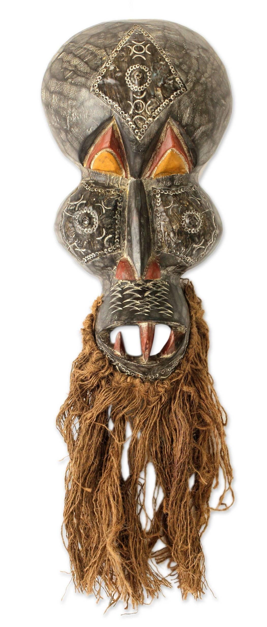 NOVICA ''Obo-Adaka Healer'' African Wood Mask