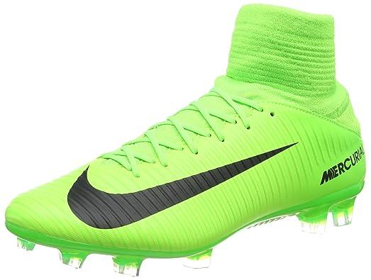 Nike Men's Mercurial Veloce III DF FG Soccer Cleat (Sz. 9.5) Electric Green