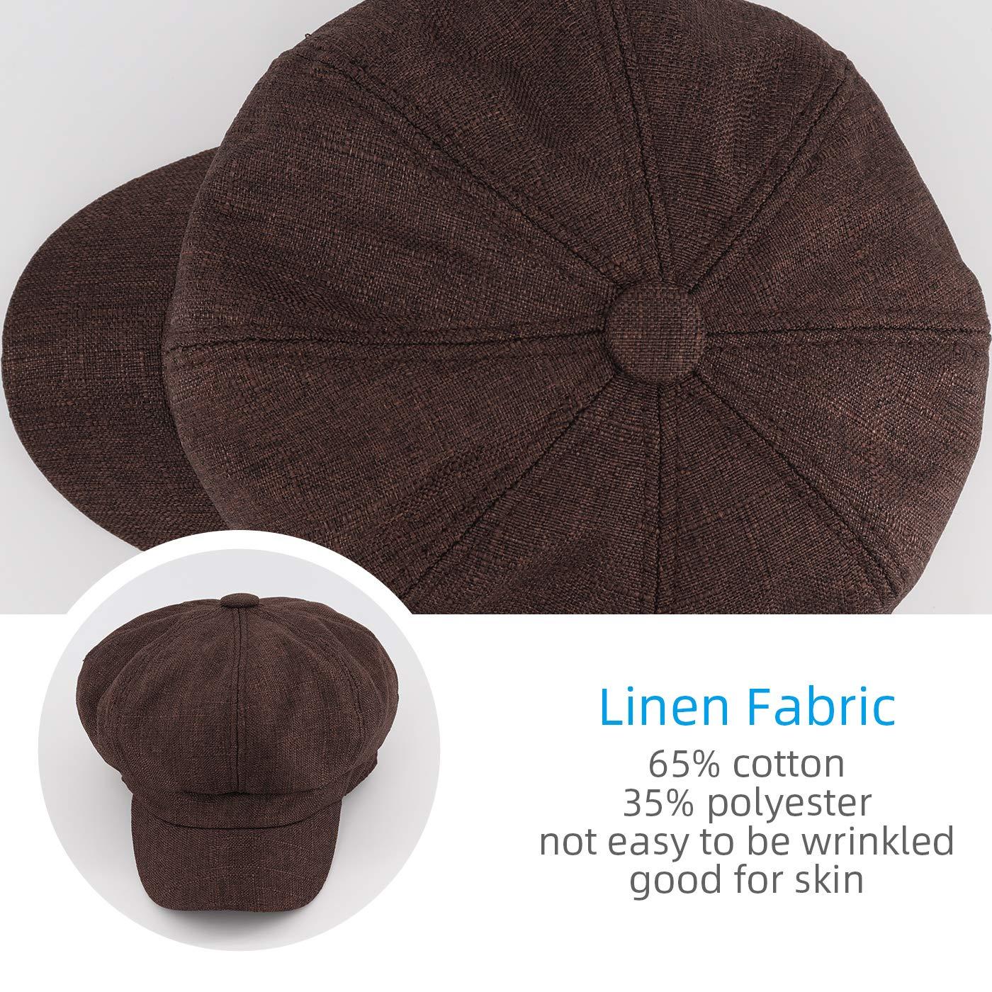 Gisdanchz Boinas para Mujer Estilo Simple Sombrero Octogonal Aire Libre Accesorios