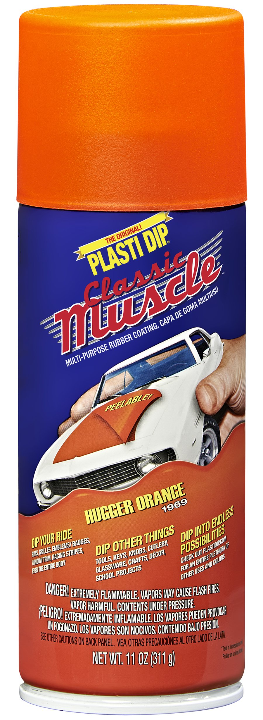 Performix 11307-6 Hugger Orange Classic Muscle Car Rubber Coating, 11 oz, 6 Pack by Plasti Dip