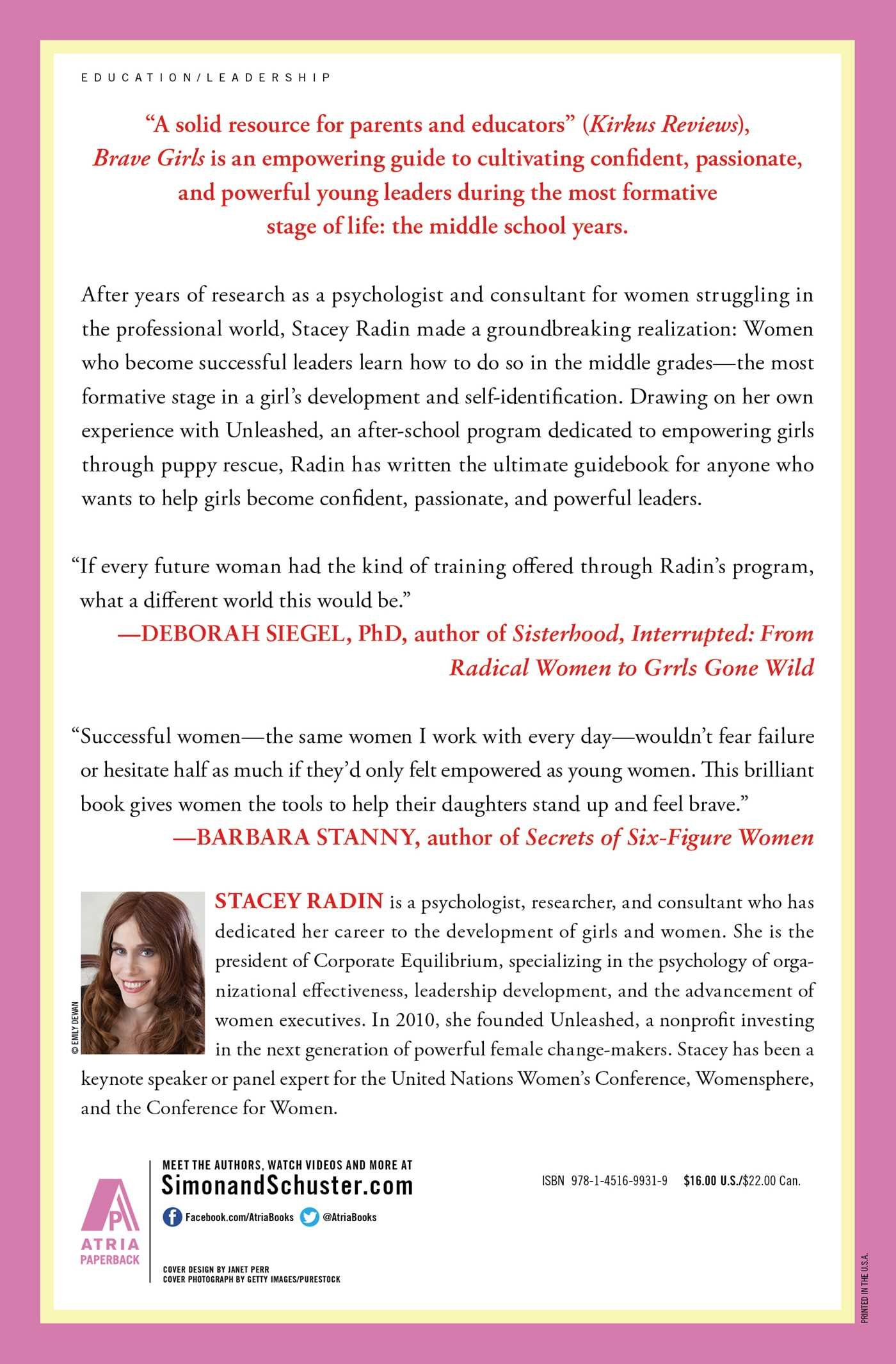Brave Girls: Raising Young Women with Passion and Purpose to Become  Powerful Leaders: Amazon.co.uk: Stacey Radin: 9781451699319: Books
