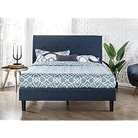 Zinus Omkaram Upholstered Platform Bed With Wood Slat Support, Full
