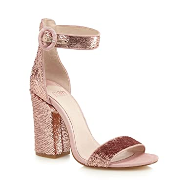 f265bbba14f3 Faith Womens Pink 'Danielle' High Block Heel Ankle Strap Sandals 5:  Debenhams: Amazon.co.uk: Clothing