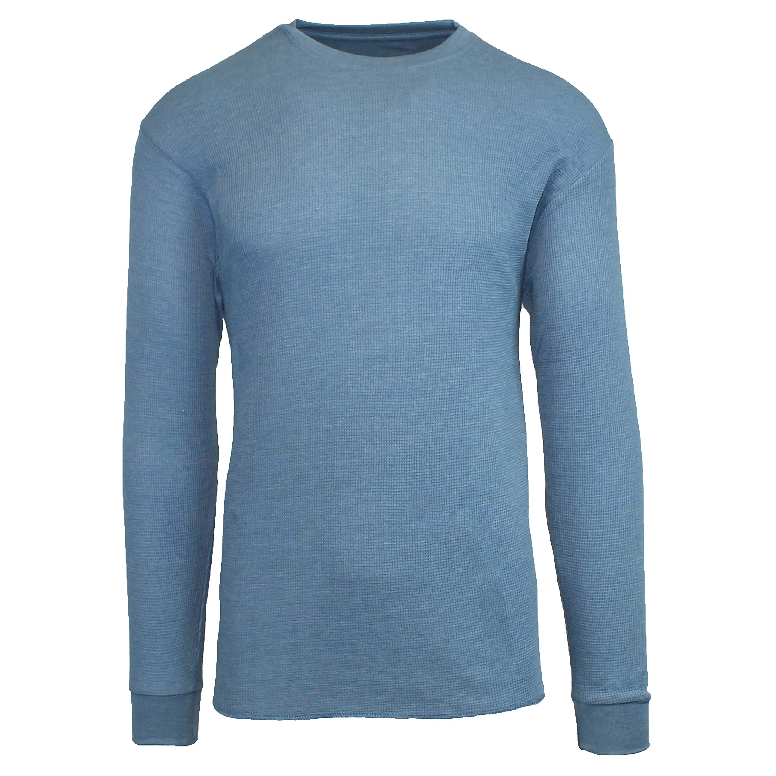 Galaxy by Harvic Mens Crew Neck Thermal Shirt (Multiple Sizes/Colors) by Galaxy by Harvic