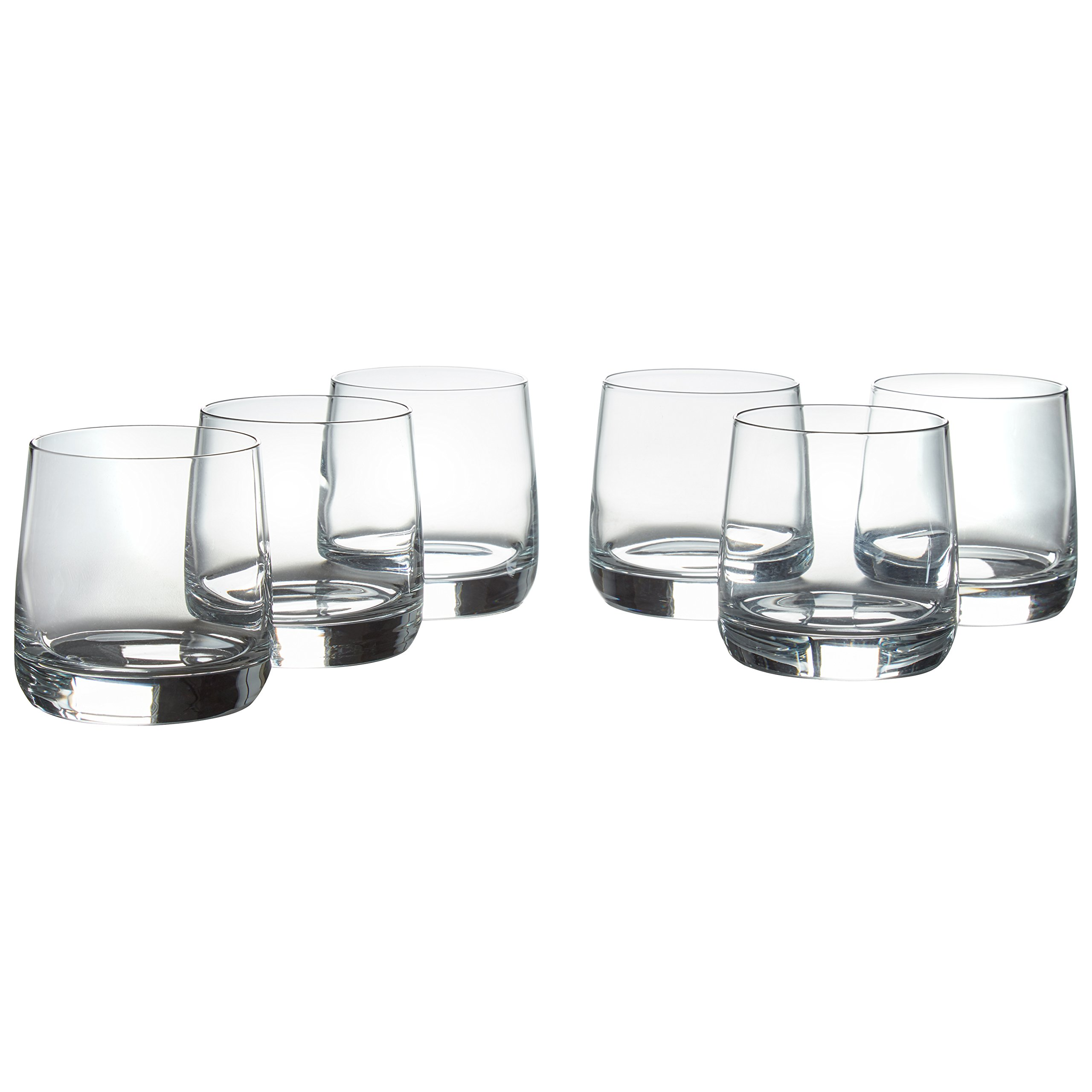 Amazon Brand – Stone & Beam Traditional Old Fashioned Drinking Glass, 13-Ounce, Set of 6