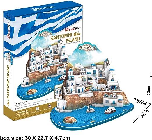 3D Puzzle Islas San Torini Grecia Santorini Islands Griechenland îles Santorin isole Σαντορίνη: Amazon.es: Juguetes y juegos