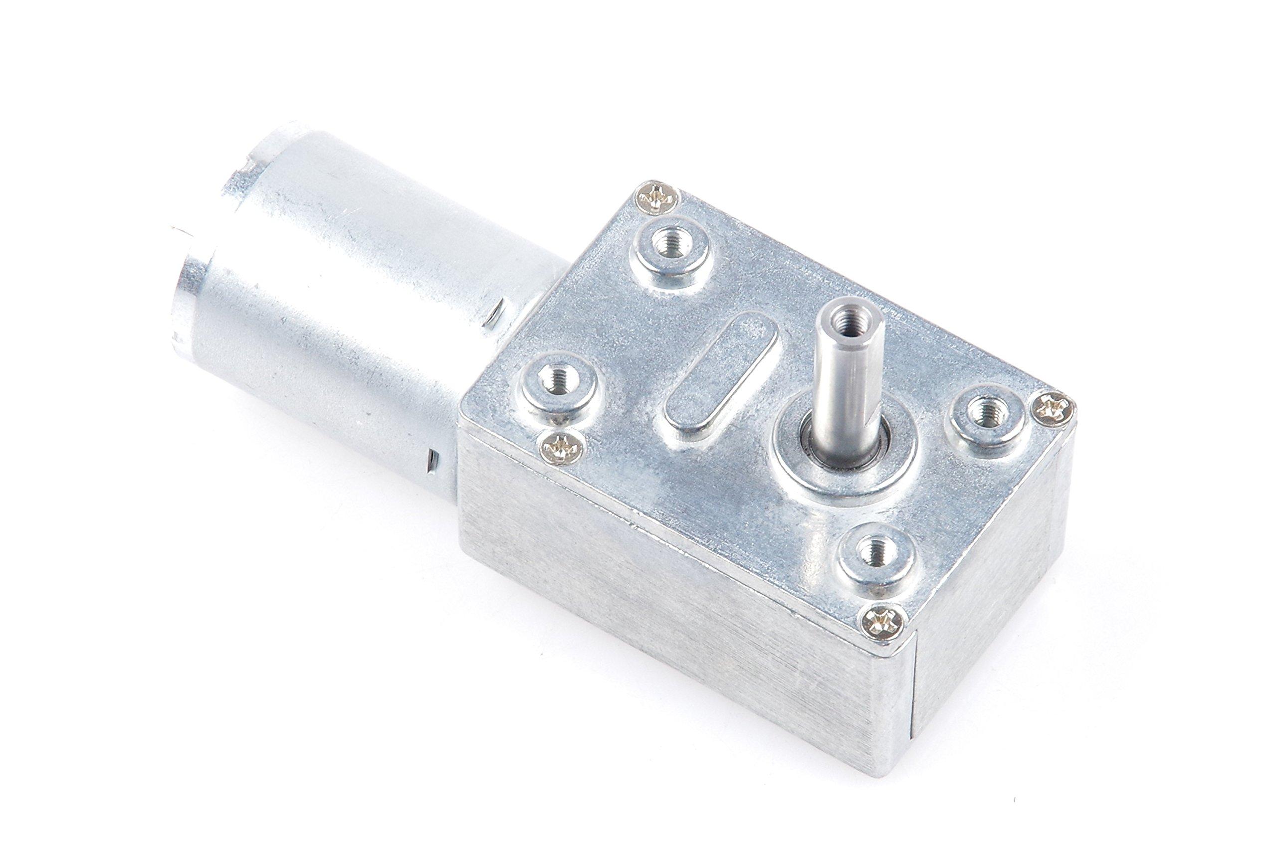 DC 6V 10RPM Worm Gear Motor 6mm Shaft High Torque Turbine Reducer (DC 6V, 10 RPM)