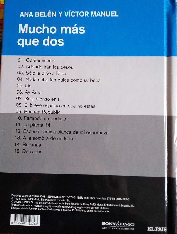 MUCHO MÁS QUE DOS - Ana Belén y Victor Manuel: Amazon.es: CDs ...