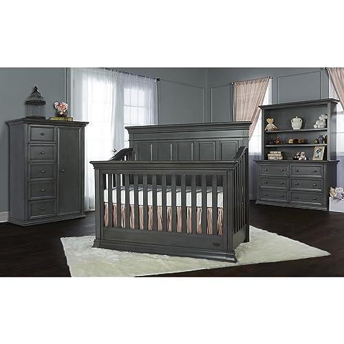 Evolur Napoli 5 in 1 Convertible Crib, Distressed Slate