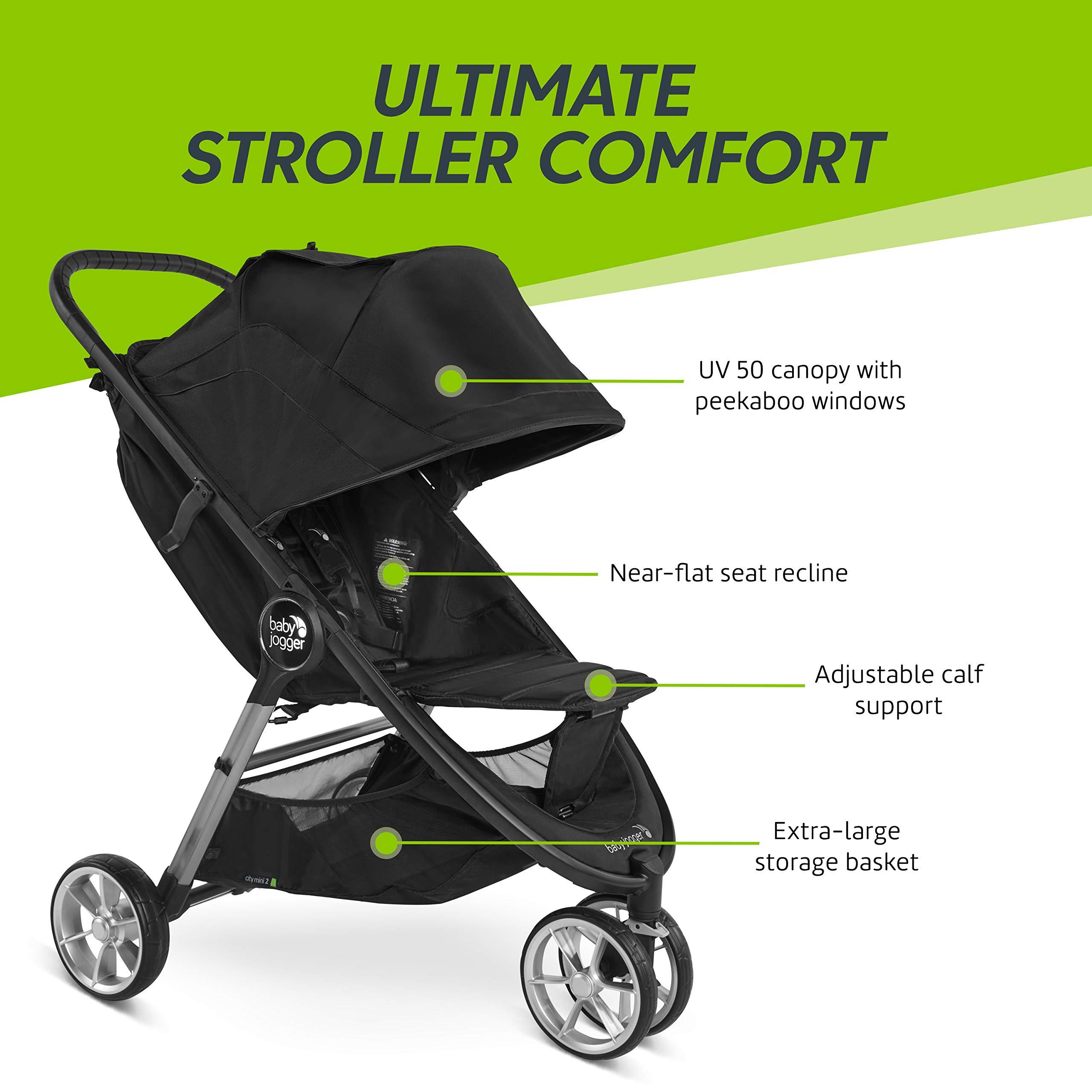 Baby Jogger City Mini 2 Stroller - 2019   Compact, Lightweight Stroller   Quick Fold Baby Stroller, Carbon by Baby Jogger (Image #7)