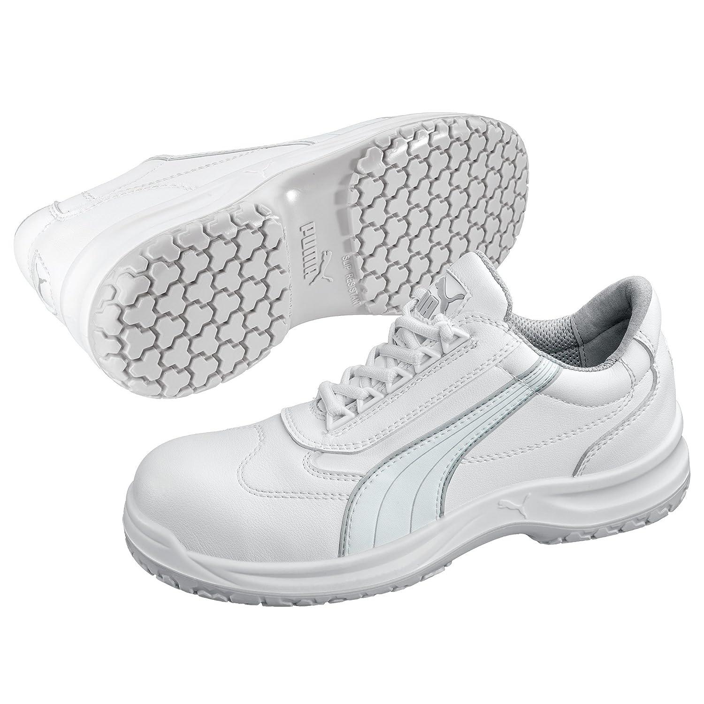Puma Safety Sicherheitsschuhe White'N Service Clarity Low S2 64.062.2, Halbschuhe, weiß, Größe 42, 47 640622 42