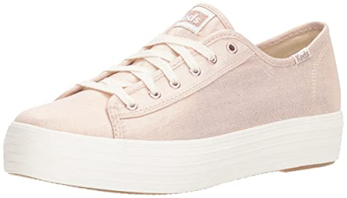 d6ca8332697 Keds Women s Tpl Kick Metallic Linen Rose Gold Trainers  Amazon.co ...