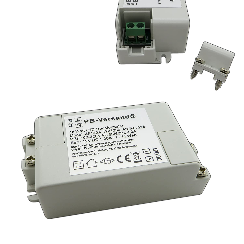 Transformador para bombillas LED, de 15 W, 12 V CC 1-15 W ...