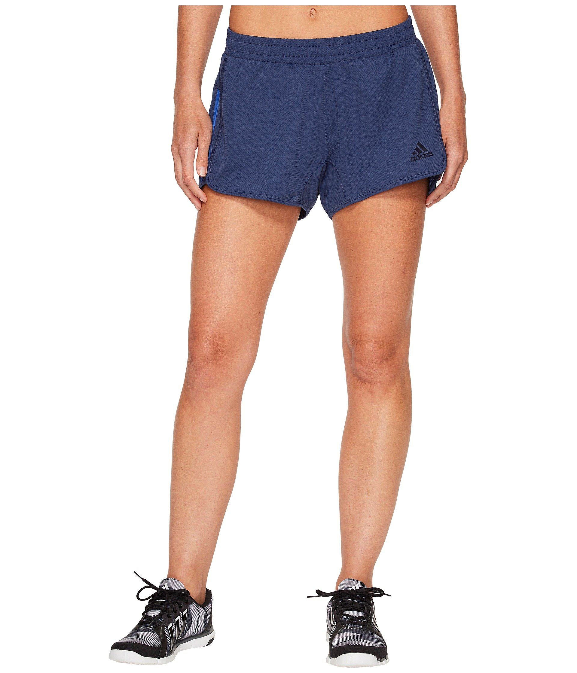 adidas Women's D2m Knit Shorts Noble Indigo Small 3 3