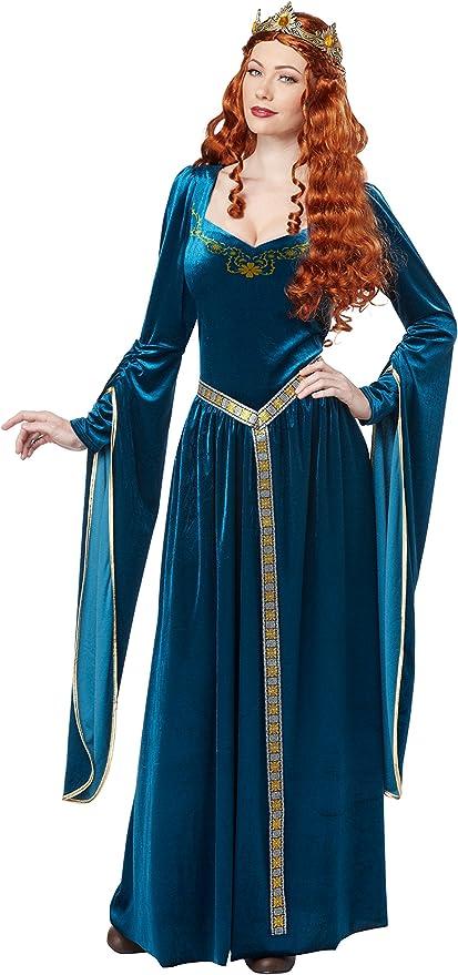 California Costumes Inc Disfraz medieval azul para mujer: Amazon ...