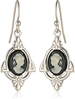 product image for 1928 Jewelry Embellish Vintage-Inspired Cameo Drop Earrings