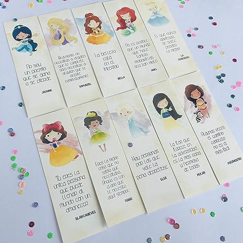 Pack de marcapáginas de Princesas Disney: Amazon.es: Handmade