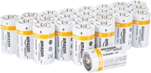 AmazonBasics D Cell Everyday Alkaline Batteries (24-Pack)
