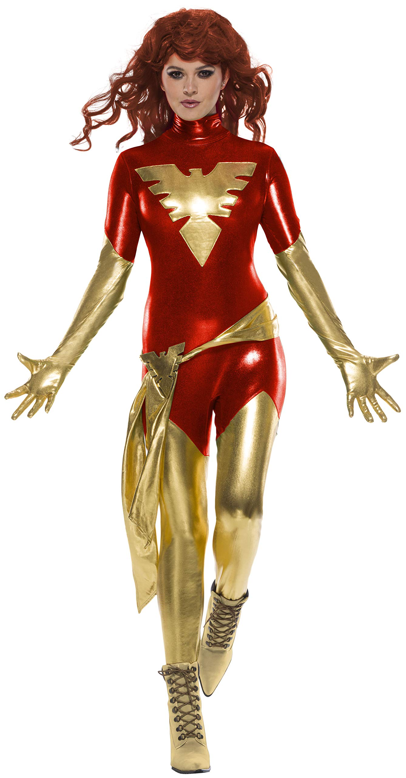 - 813fUX 2BCFvL - Secret Wishes Women's Marvel X-Men: Dark Phoenix Costume