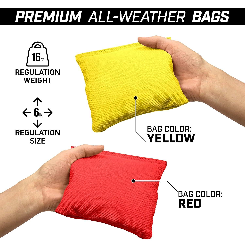 GoSports 4/'x2/' Pro Grade Cornhole Boards Set Full Regulation Size Premium Bean Bag Toss Boards