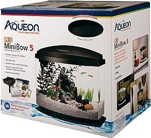 Aqueon LED MiniBow Aquarium Starter Kits with LED Lighting