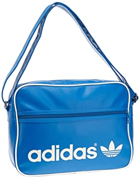 adidas Adicolor Airliner Shoulder Bag - Bluebird Running White dcf75df353556