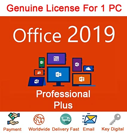 Microsoft Office 2019 Professional Plus Key 3264 Bit 1 Pc Windows