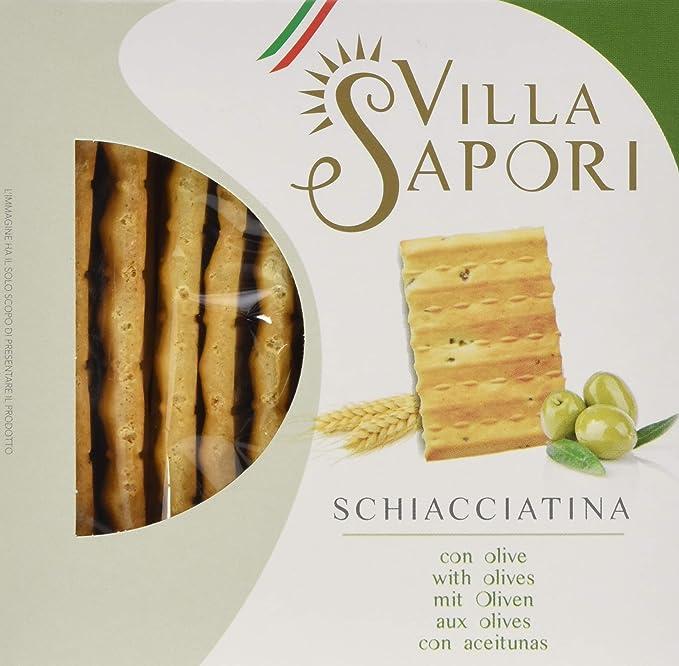 Villa Sapori Pan Crujiente Italiano | Schiacciatina con Aceitunas ...