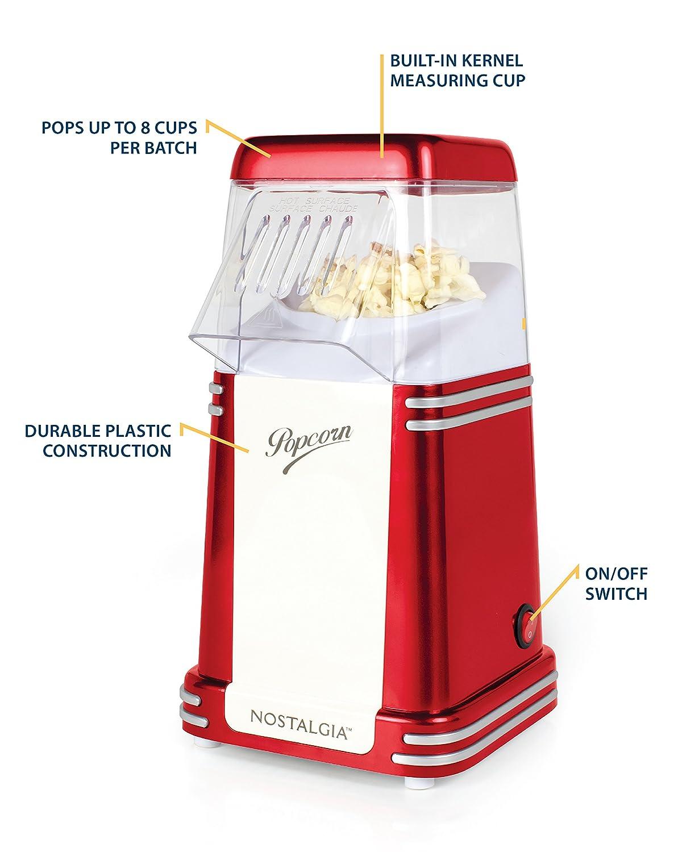 Nostalgia Electrics RHP310 palomitas de maiz poppers Rojo - Palomitero: Amazon.es: Hogar