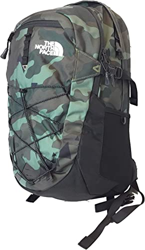 The North Face Borealis Unisex Outdoor Backpack, Olive Green Camo Bright Olive Green Camo