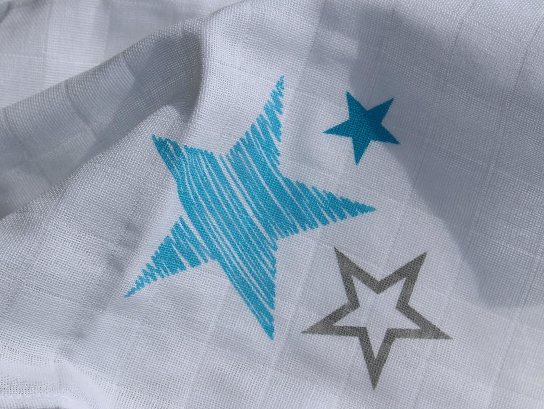 Mousselines Set Lot de 6/chiffons langes avec /étoiles qualit/é premium Certifi/é OEKO-TEX standard 100
