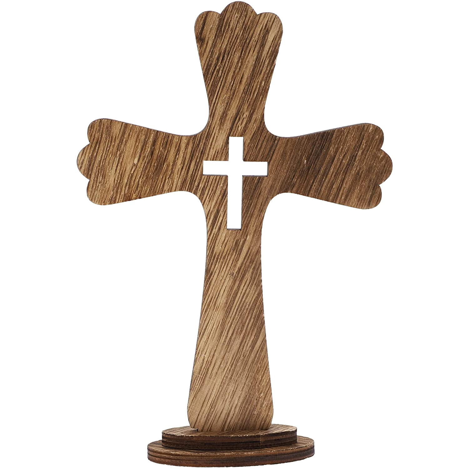 Juvale Wood Home Decor Standing Table Cross (3 Pack)