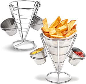 French Fry Holder, Finger Food Cones (2 Pack)