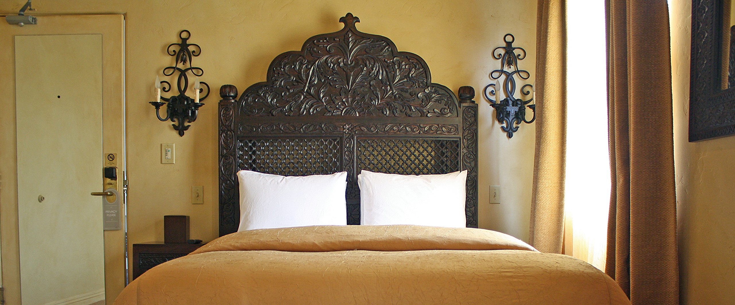 Carved Lattice Headboard by Worldcraft Industries, Queen